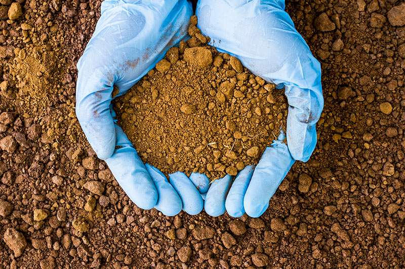 03 Overview Gloved Hands Holding Soil